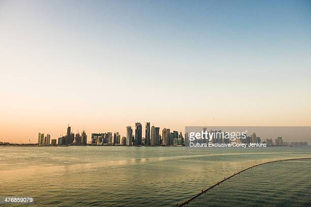 view of doha city, qatar, middle east - general view stock pictures, royalty-free photos & images