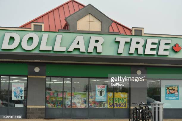 A view of Dollar Tree Store logo in Riverbend area of Edmonton On Tuesday September 11 in Edmonton Alberta Canada
