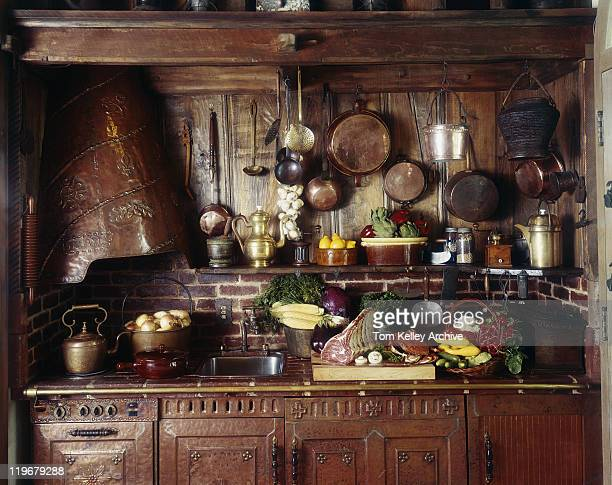 View of domestic kitchen with food