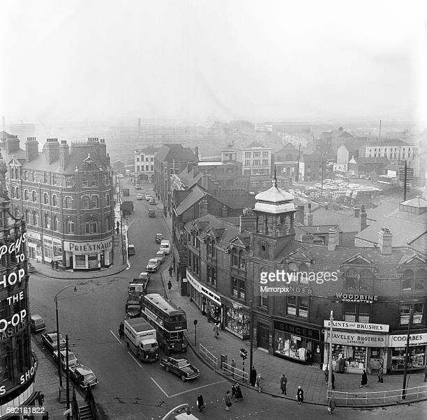 View of Doncaster town centre from the top of the Coop building South Yorkshire 5th April 1962
