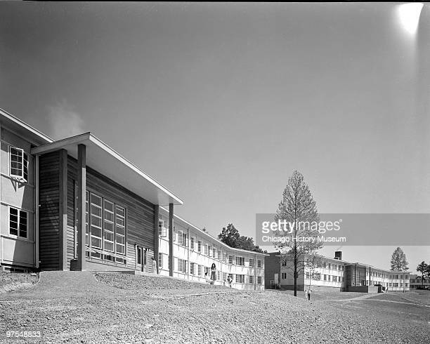 View of dormitory buildings in Oak Ridge Tennessee July 12 1944 Oak Ridge was established in 1942 to house the employees of the uraniumenrichment...