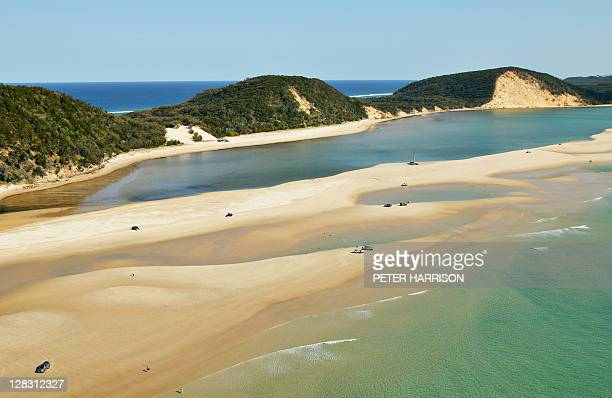 view of double island point, queensland, australia - double stock photos and pictures