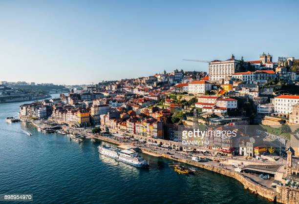 view of Douro river and city of Oporto, Portugal