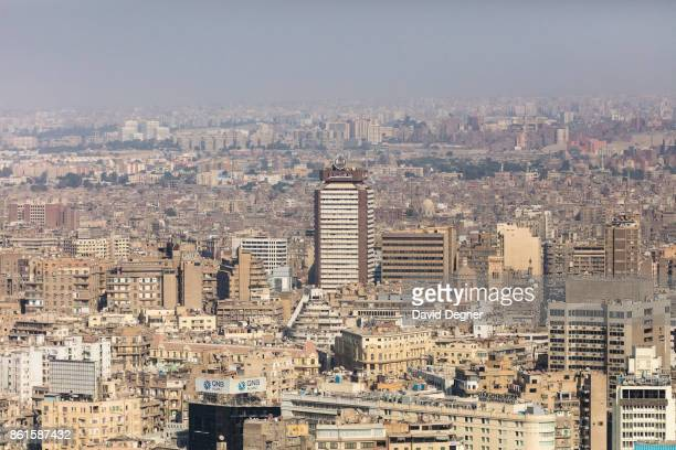 A view of downtown Cairo and the Bank Masr building on September 24 2017 in Cairo Egypt Overview photos of Cairo's buildings cityscape and...