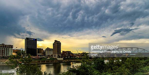 view of downtown charleston, wv from route 60. - charleston west virginia stock pictures, royalty-free photos & images