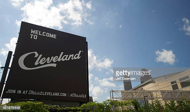 A view of downtown Cleveland which has been chosen for the 2016 Republican National Convention on July 8 2014 in Clevland Ohio The 2016 event will be...