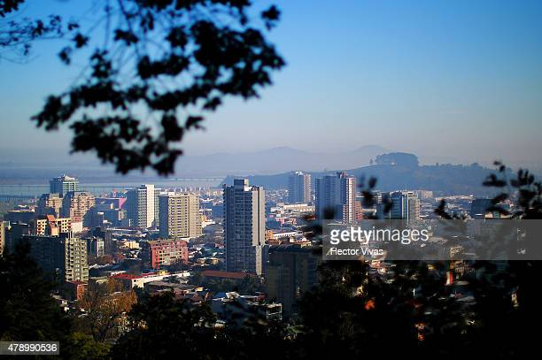 View of downtown Concepcion host city of 2015 Copa America Chile on June 29 2015 in Concepcion Chile