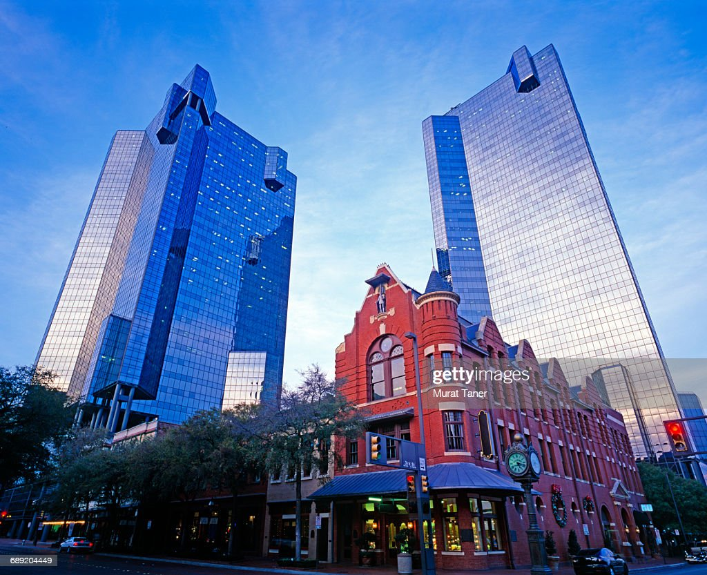 View of downtown Fort Worth : Stock Photo