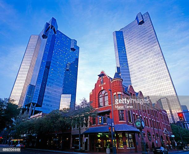 view of downtown fort worth - fort worth stock pictures, royalty-free photos & images