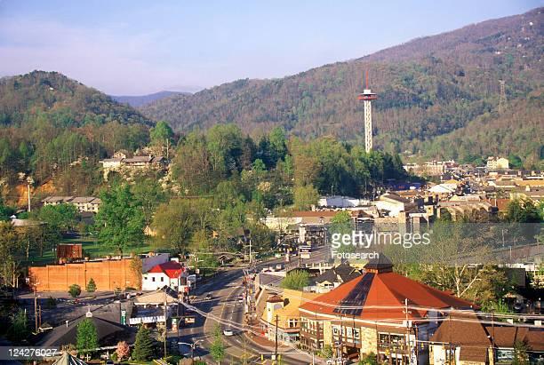 View of downtown Gatlinburg, Smokey Mountain National Park