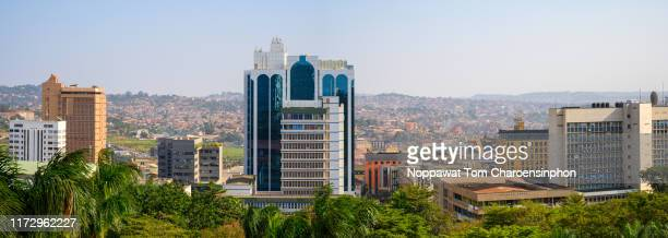 view of downtown kampala city, uganda, africa - kampala stock-fotos und bilder