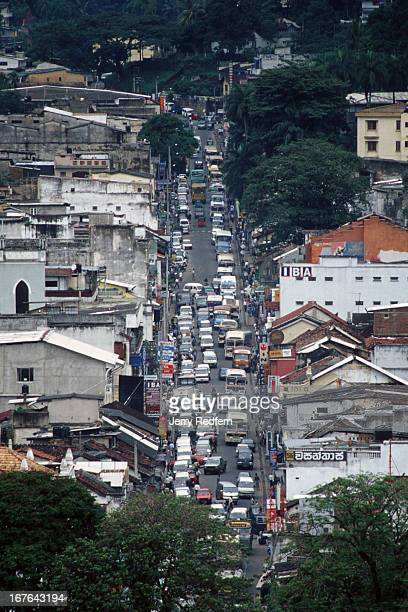 A view of downtown Kandy from the hills overlooking the city The clogged city is one of the country's biggest tourist attractions both for its mild...