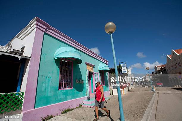 View of downtown Kralendijk on February 3, 2011 on the island of Bonaire. Bonaire has earned a reputation for being one of the most environmentally...