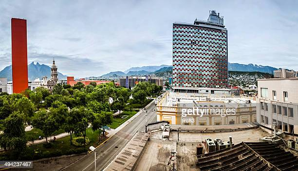 view of downtown monterrey in mexico - monterrey stock pictures, royalty-free photos & images