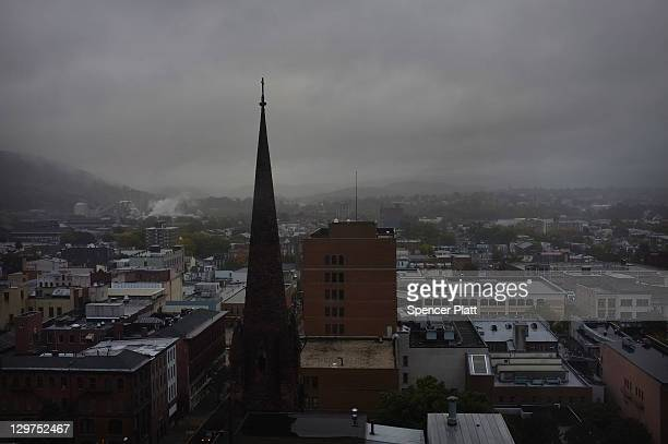 View of downtown Reading on October 19, 2011 in Reading, Pennsylvania. Reading, a city that once boasted numerous industries and the nation's largest...