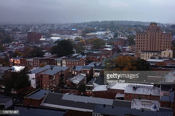 A view of downtown Reading on October 19 2011 in Reading Pennsylvania Reading a city that once boasted numerous industries and the nation's largest...