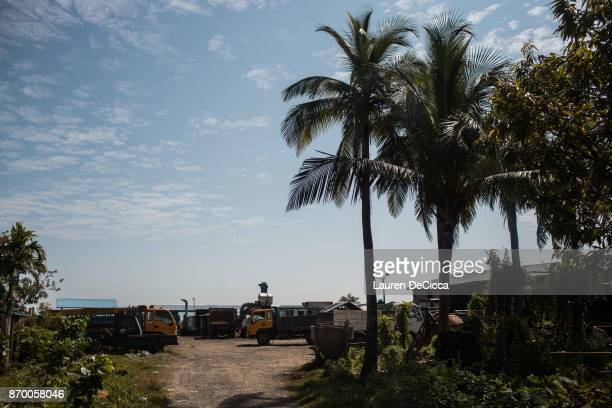 A view of downtown Sittwe on November 4 2017 in Sittwe Myanmar The beachside neighborhood was once home to a small community of Rohingya Muslims...