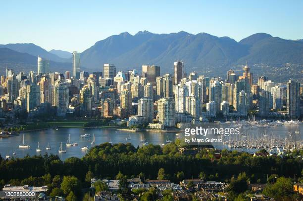view of downtown vancouver, british columbia, canada - canada stock pictures, royalty-free photos & images
