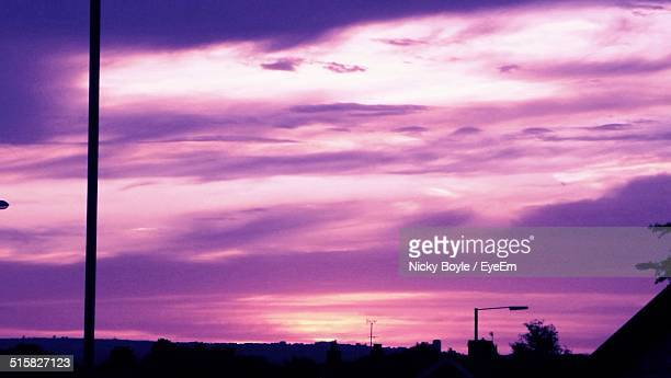 view of dramatic sky over town - port talbot stock pictures, royalty-free photos & images