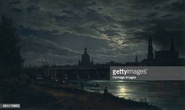 View of Dresden by Moonlight, 1839. Found in the collection of the Dresden State Art Collections.