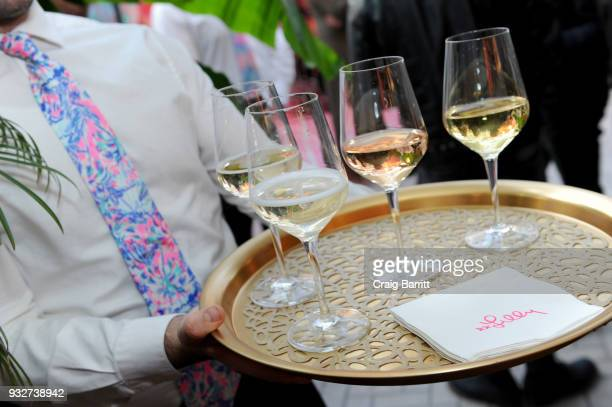 A view of drinks being served a the Launch Celebration of the Pottery Barn Pottery Barn Kids PBteen and Lilly Pulitzer Exclusive Collection on March...