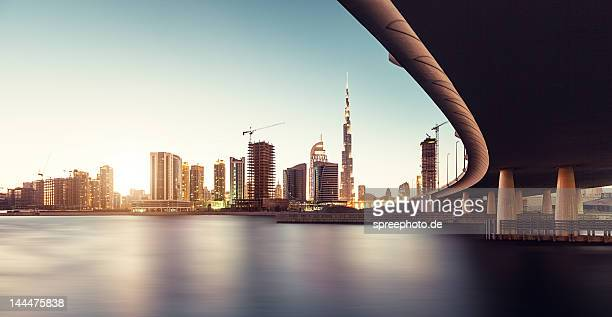 View of Dubai at sunset