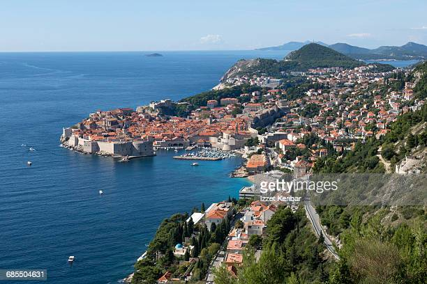 View of Dubrovnik and the old city, Croatia