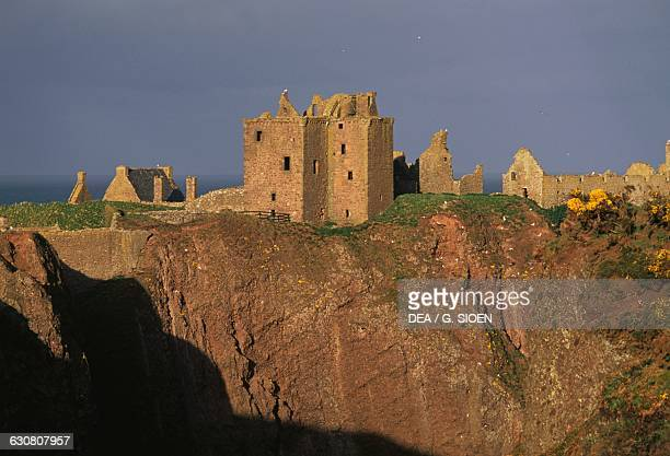 View of Dunnottar Castle, near Stonehaven, Aberdeenshire, Scotland. United Kingdom, 13th-17th century.