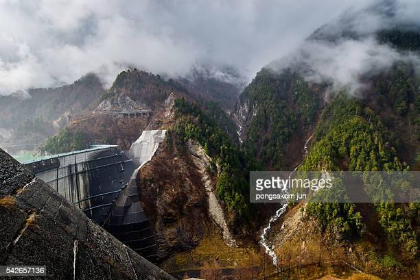 View of dyke Kurobe Dam