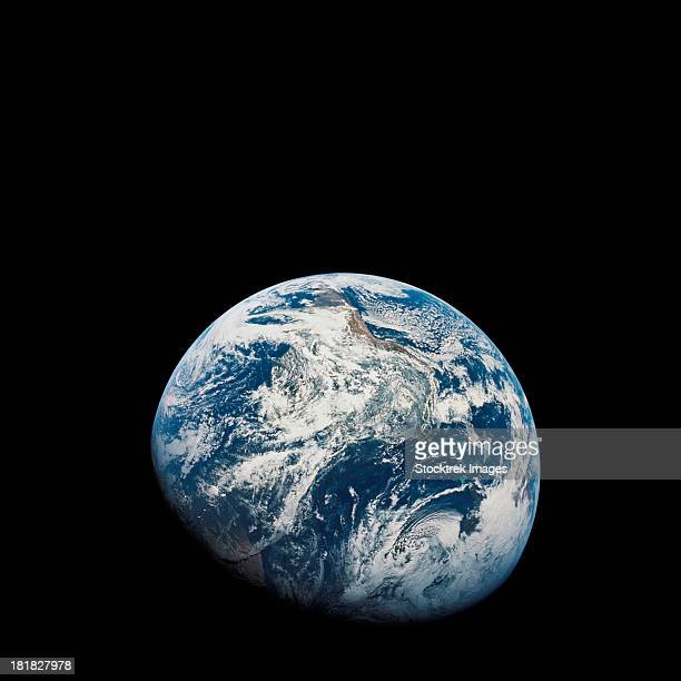 view of earth taken from the aollo 8 spacecraft. - apollo 8 stock pictures, royalty-free photos & images