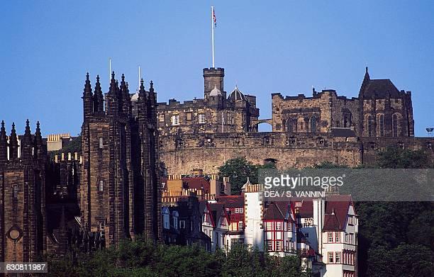 View of Edinburgh Castle Scotland United Kingdom