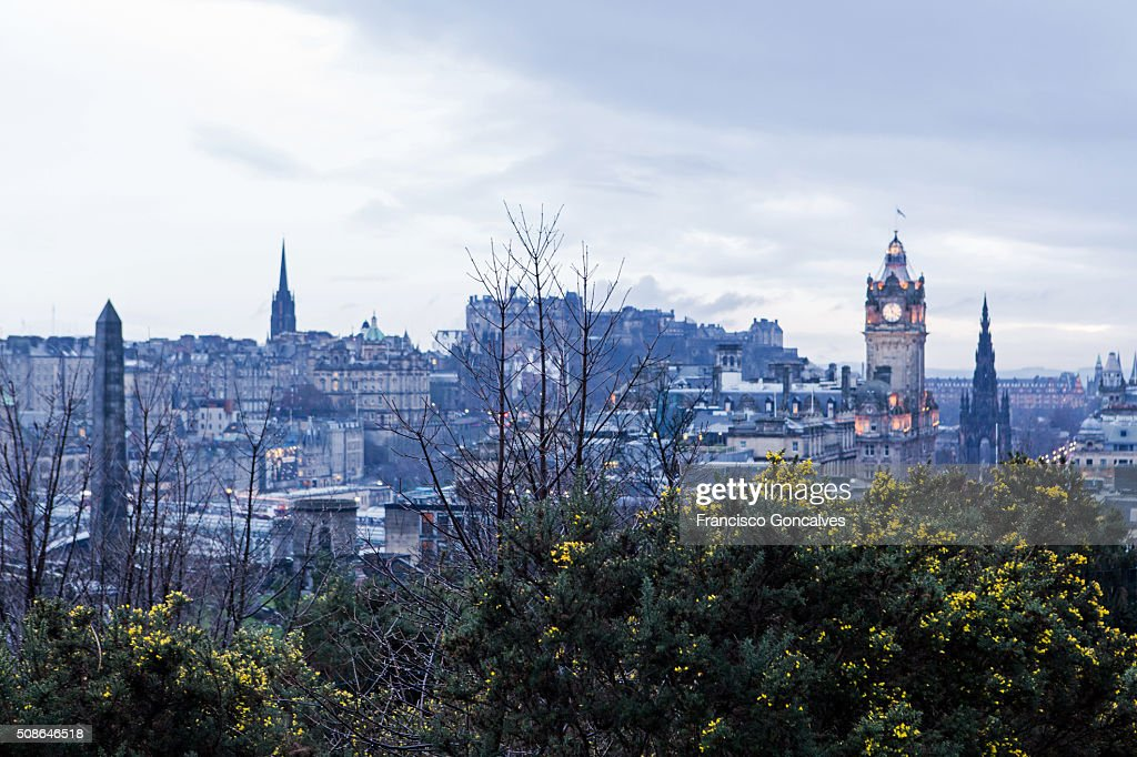 View of Edinburgh from Calton Hill : Stock Photo