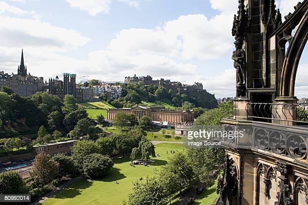 View of edinburgh from scotts monument