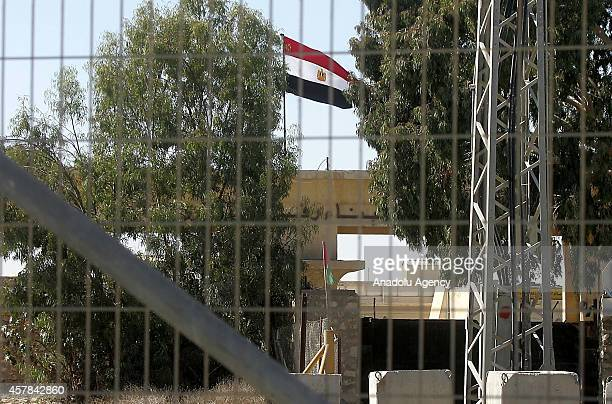 A view of Egypt's Rafah border crossing point with the Gaza Strip on October 25 which was closed after a deadly bombing that targeted an Egyptian...