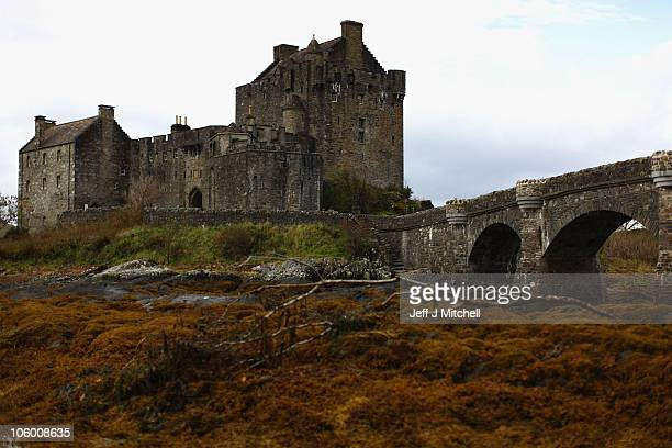 A view of Eilean Donan Castle by the Kyle of Lochalsh on October 25 2010 in Scotland United Kingdom