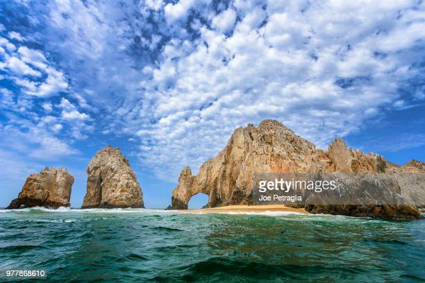 view of el arco, cabo san lucas, baja california sur, mexico - cabo san lucas stock pictures, royalty-free photos & images