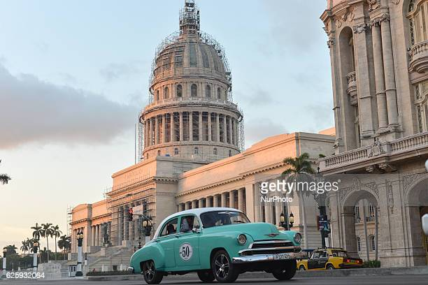 A view of El Capitolio a few hours later after Fidel Castro the former Prime Minister and President of Cuba dies on the late night of November 25 at...