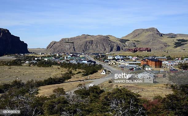 View of El Chalten town Santa Cruz province Argentina on March 18 2014 AFP PHOTO / MARIO GOLDMAN