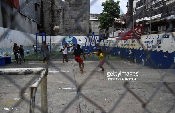 View of El Chorrillo neighborhood which was the stronghold of President Manuel Noriega on May 30 2017 in Panama City Panama's former dictator Manuel...