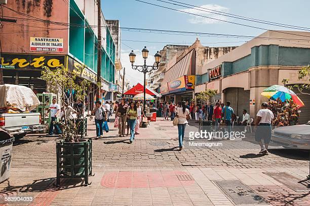 View of El Conde, the pedestrian street