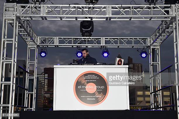 A view of el media group DJ booth at Barilla's Italian Table hosted by Giada De Laurentiis during the Food Network Cooking Channel New York City Wine...