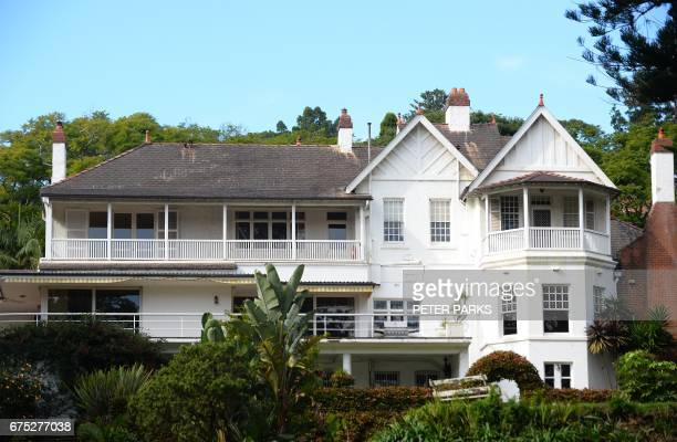 A view of Elaine a 7bedroom Victorian mansion located on the waterfront in the suburb of Point Piper in Sydney on May 1 2017 The harbourside home was...