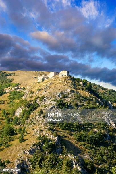 View of Elcito San Severino Marche Marche Italy Europe