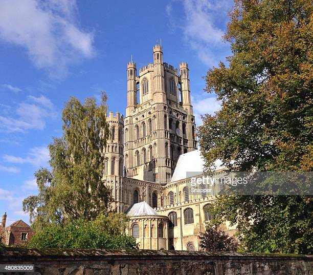 View of Ely Cathedral, Cambridgeshire, England, UK