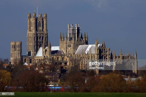 View of Ely Cathedral on March 5, 2009 in Ely, England.