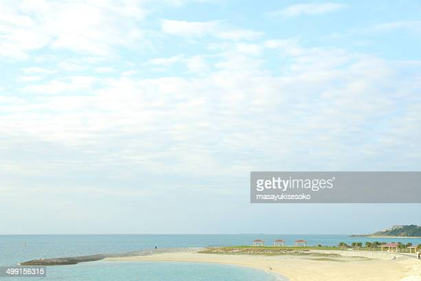 View of empty beach, Japan