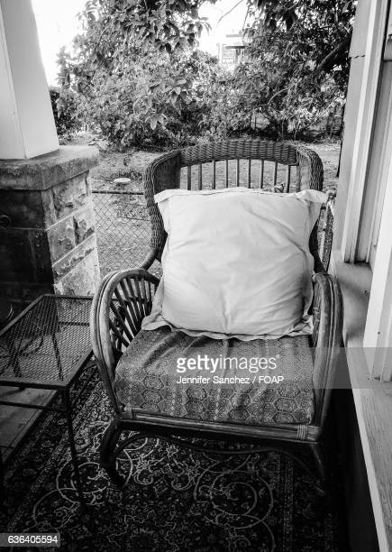 View of empty chair