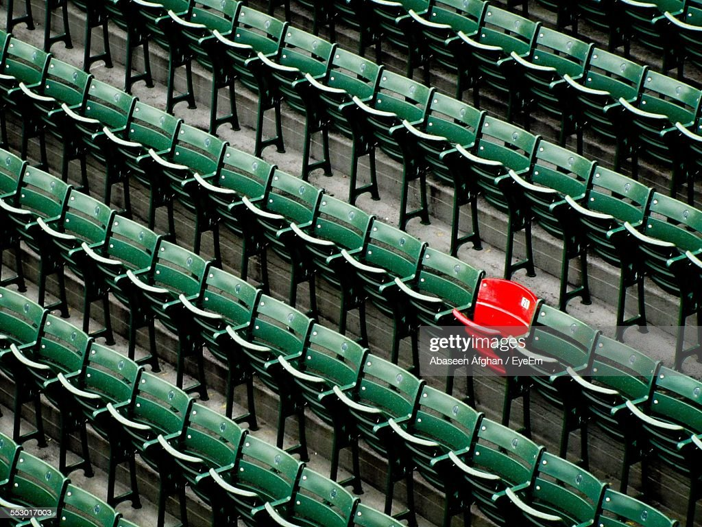 View Of Empty Chairs In Rows : Stock Photo