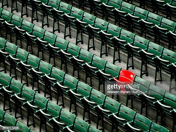 view of empty chairs in rows - repetition stock pictures, royalty-free photos & images