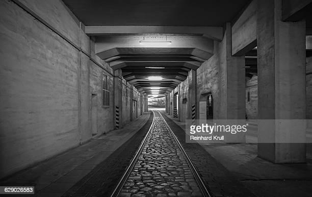 View Of Empty Railroad Tracks